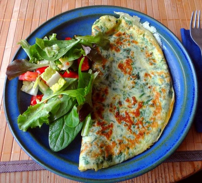 Eierpfannkuchen mit Spinat,Pflücksalat (20)