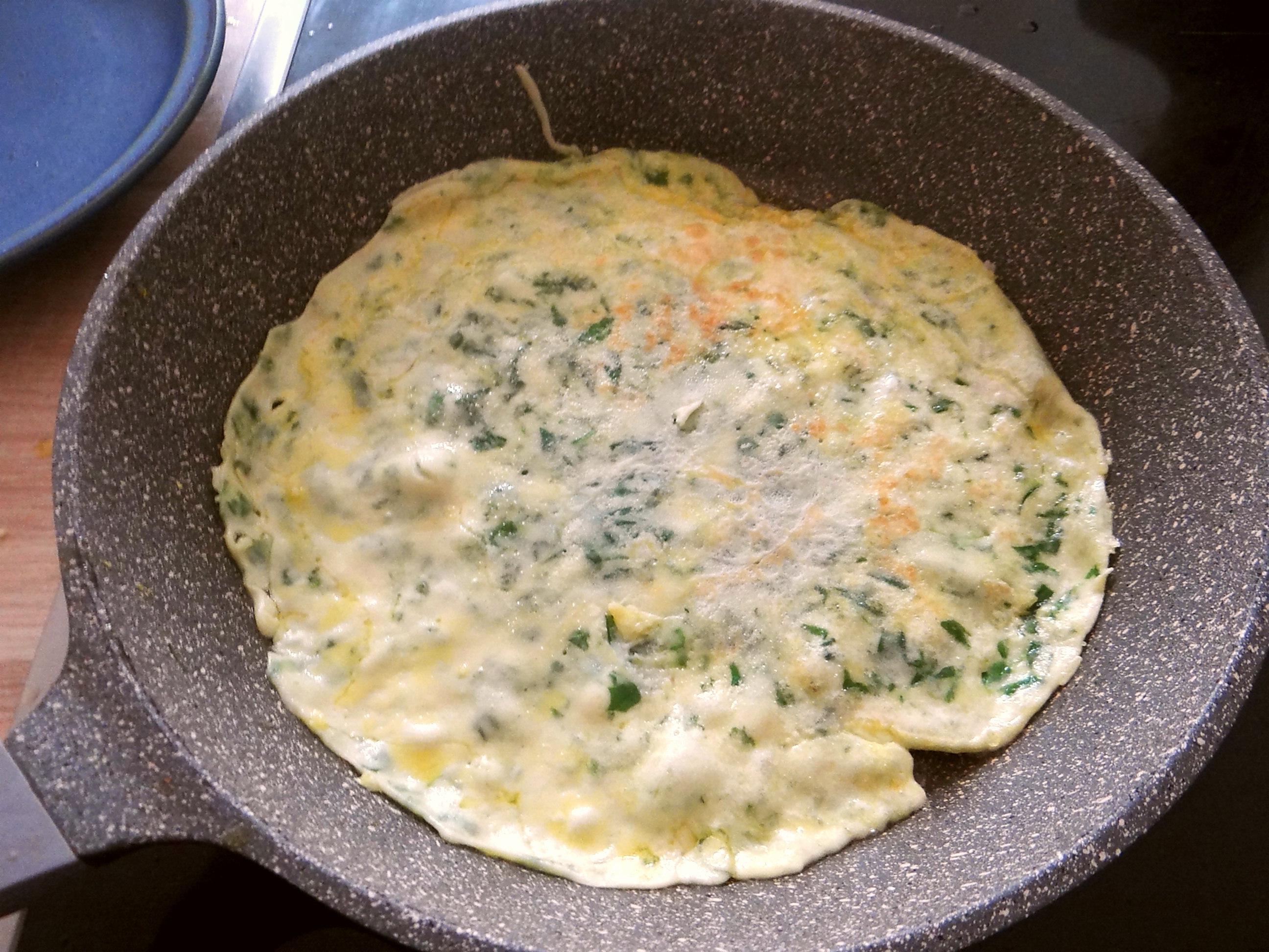 Eierpfannkuchen mit Spinat,Pflücksalat (8)