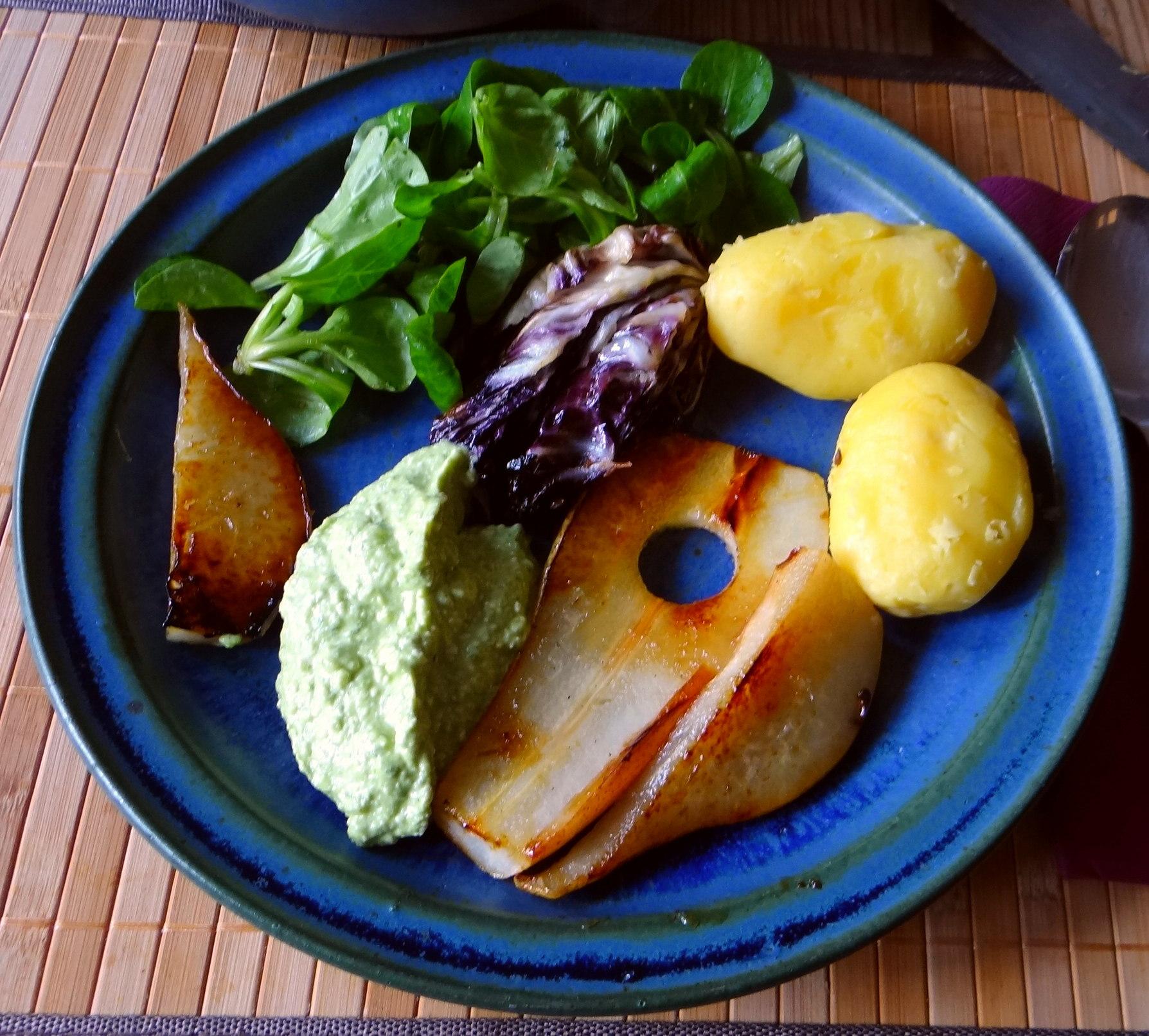Fetacrem,Kartoffel,Radicchio,Birne,Feldsalat (2)