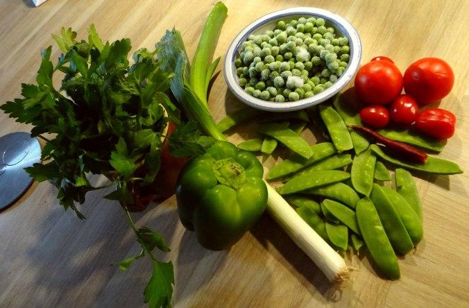Grüne Suppe,Kritharaki,Quarkspeise (5)