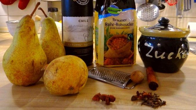 Kabeljau,Fenchel Salat,Kartoffeln,Birnen in Rotwein (15)