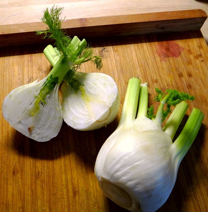 Kabeljau,Fenchel Salat,Kartoffeln,Birnen in Rotwein (5)