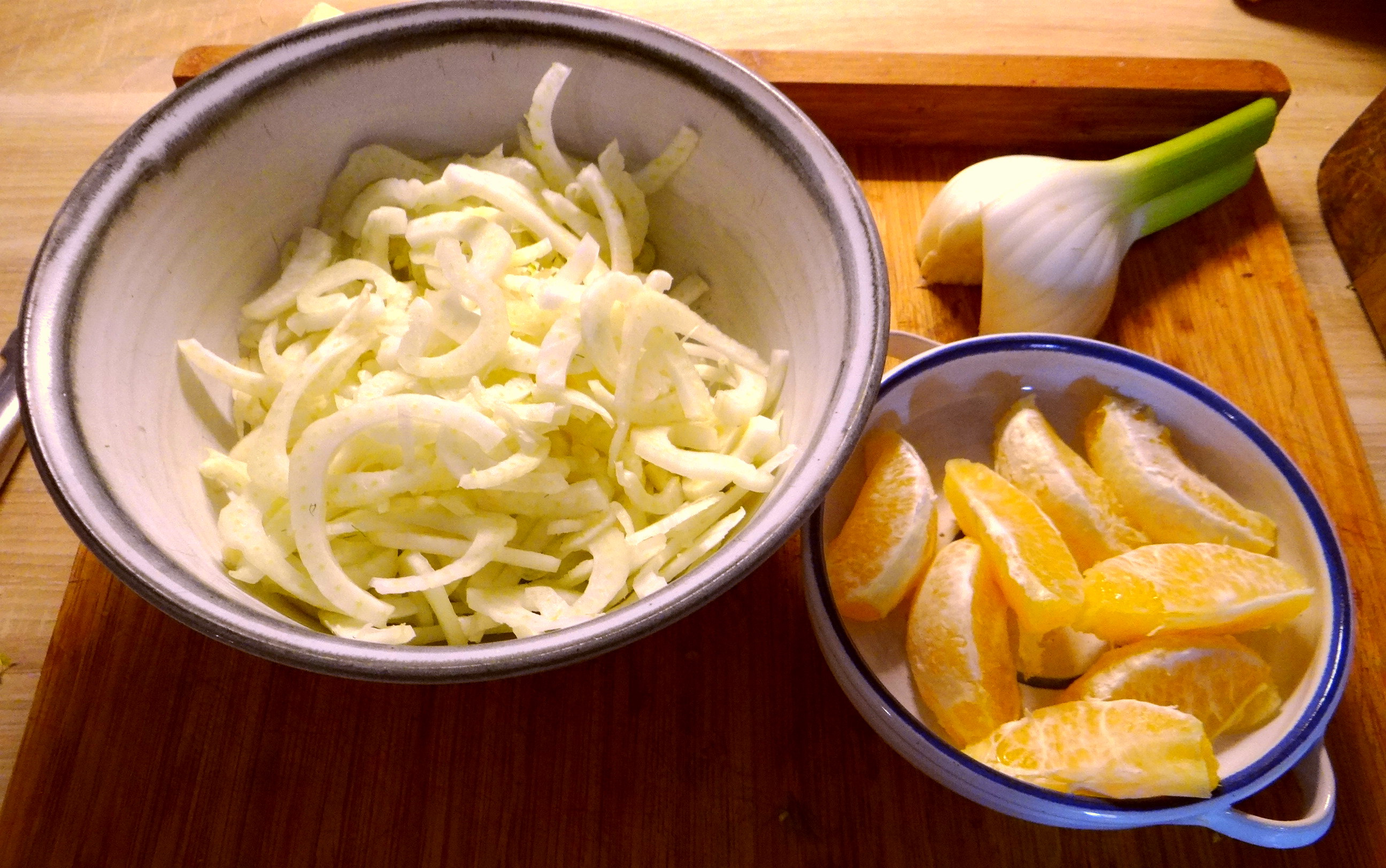 Kabeljau,Fenchel Salat,Kartoffeln,Birnen in Rotwein (6)