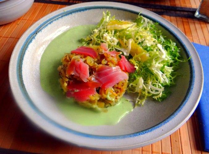 Kartoffel Nudeln,Kräuter Dip,Frisee (1)