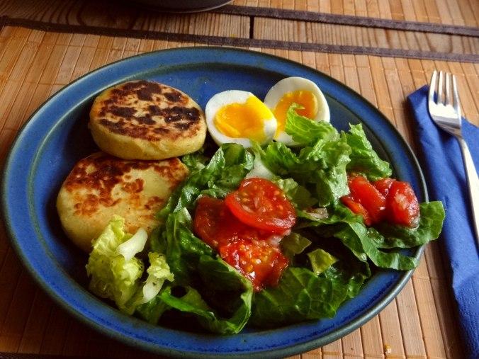 Kartoffel Taler,Ei,Salat (13)