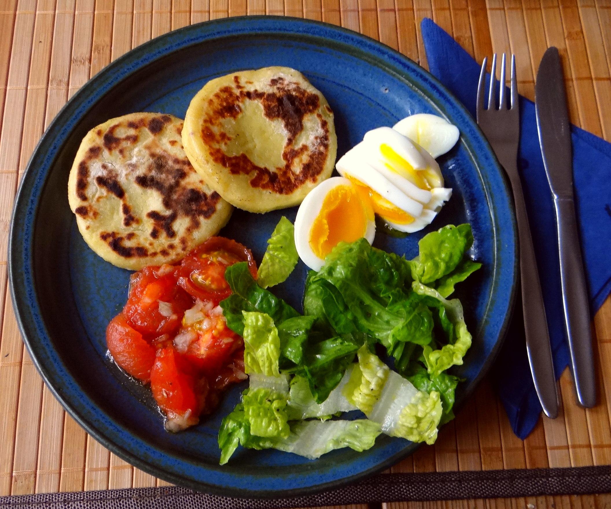 Kartoffel Taler,Ei,Salat (2)