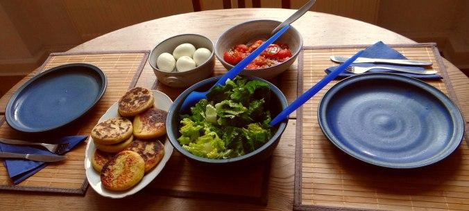 Kartoffel Taler,Ei,Salat (4)