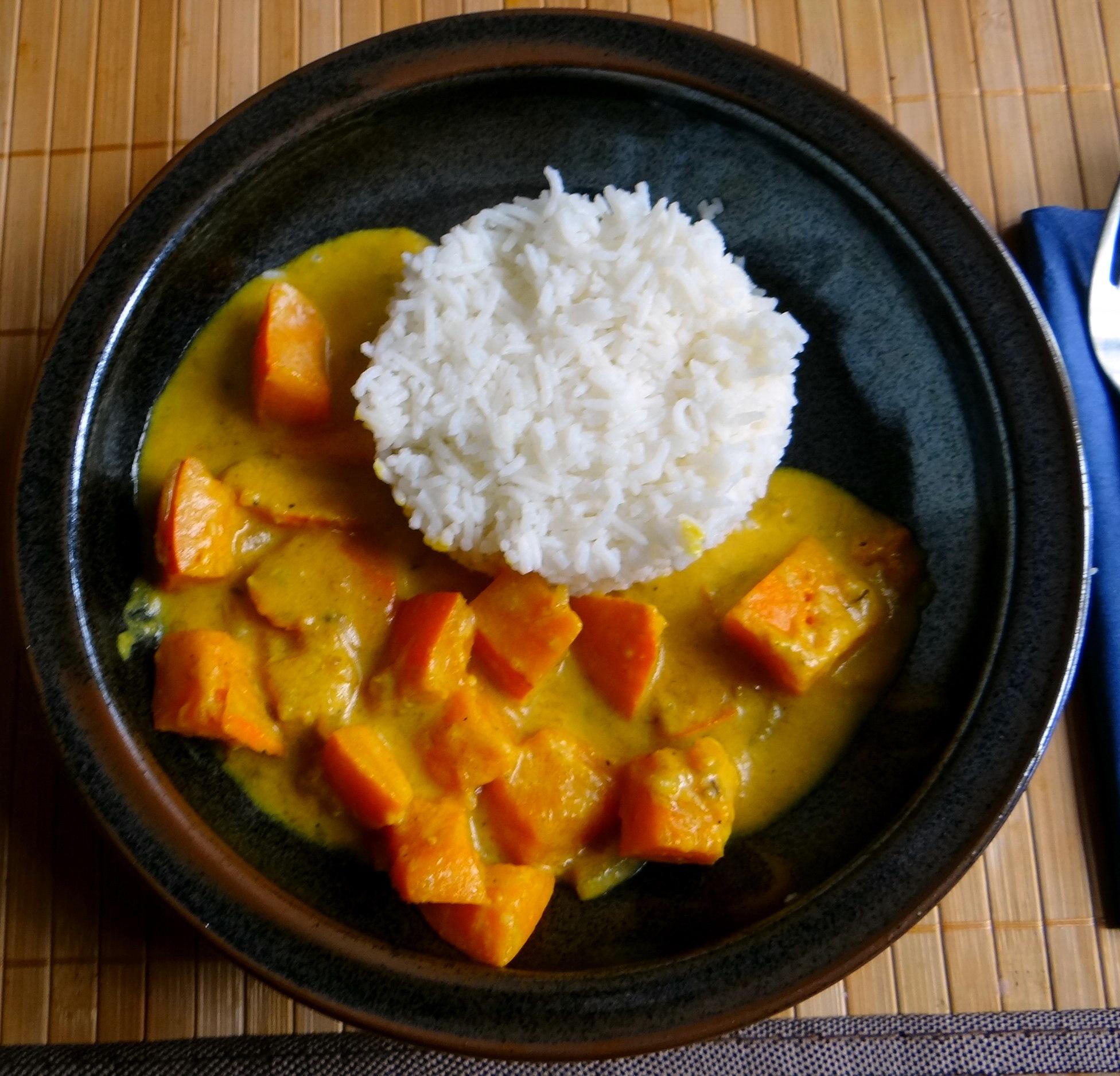 Kürbis Curry,RiiJiiBasmati Reis (1)