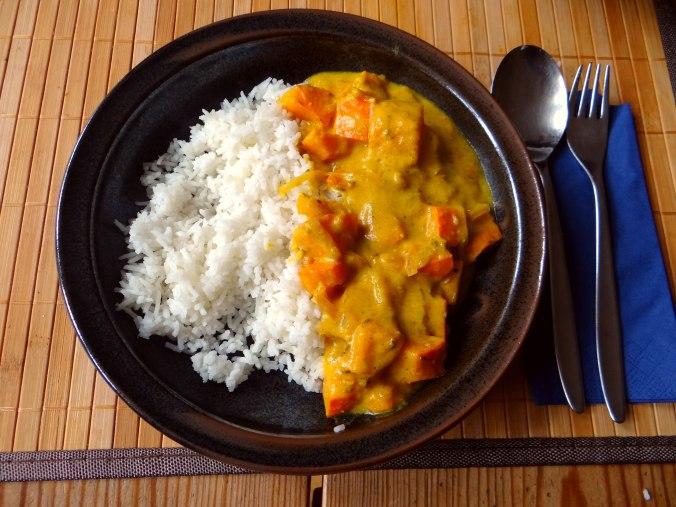 Kürbis Curry,RiiJiiBasmati Reis (2)