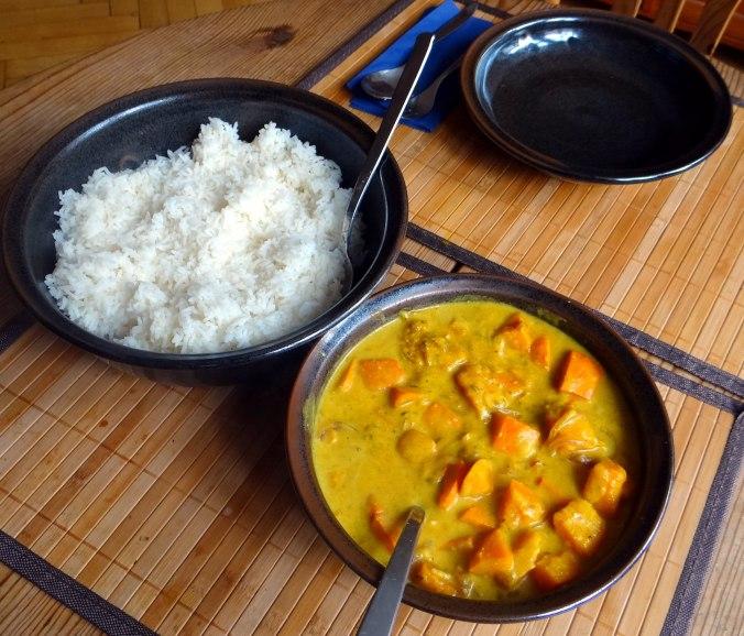 Kürbis Curry,RiiJiiBasmati Reis (4)