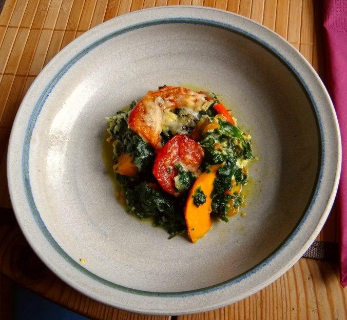 Kürbis-Spinat überbacken,Waffel (21)