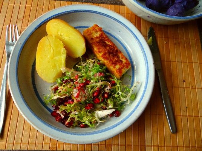 Seidentofu,Frisee Salat,Kartoffel Mix (15)