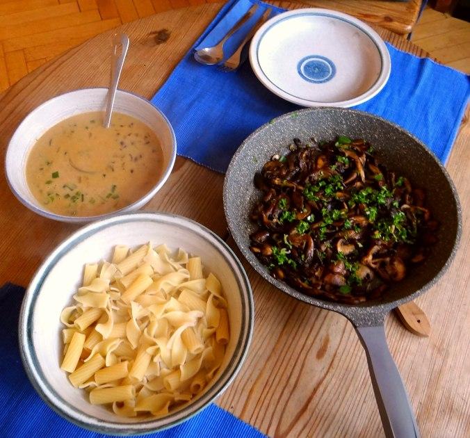 Austernpilze,Nudeln,Sauce (4)