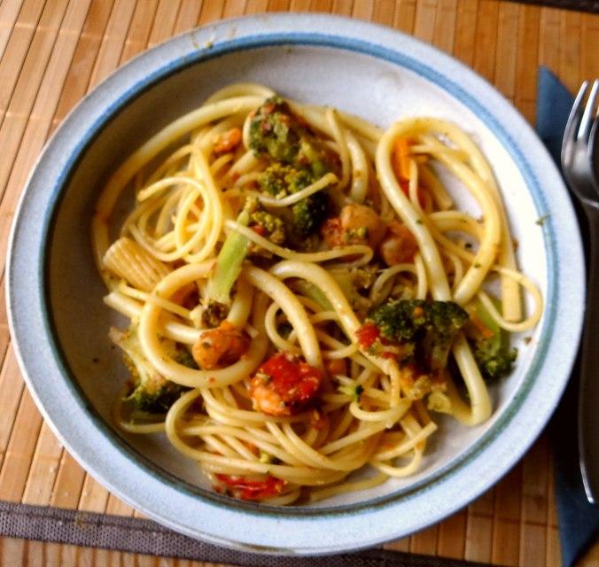 Nudeln,Garnelen,Gemüse (1)