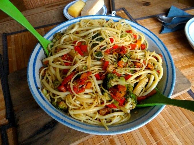 Nudeln,Garnelen,Gemüse (10)