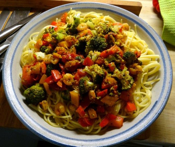 Nudeln,Garnelen,Gemüse (9)
