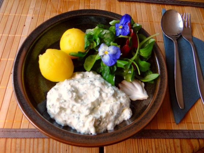 Quark und bunter Salat (1)