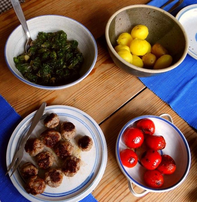 Kohlröschen,Tomaten,Mettbällchen (3)