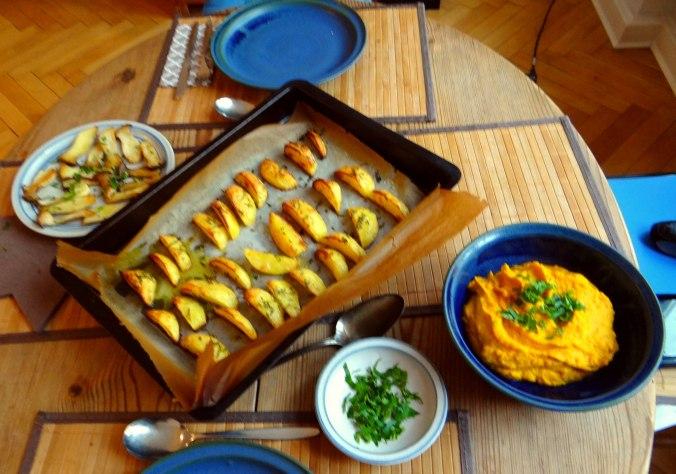 Kräuterseiling,Kartoffel Spalten,Kürbispüree (15)