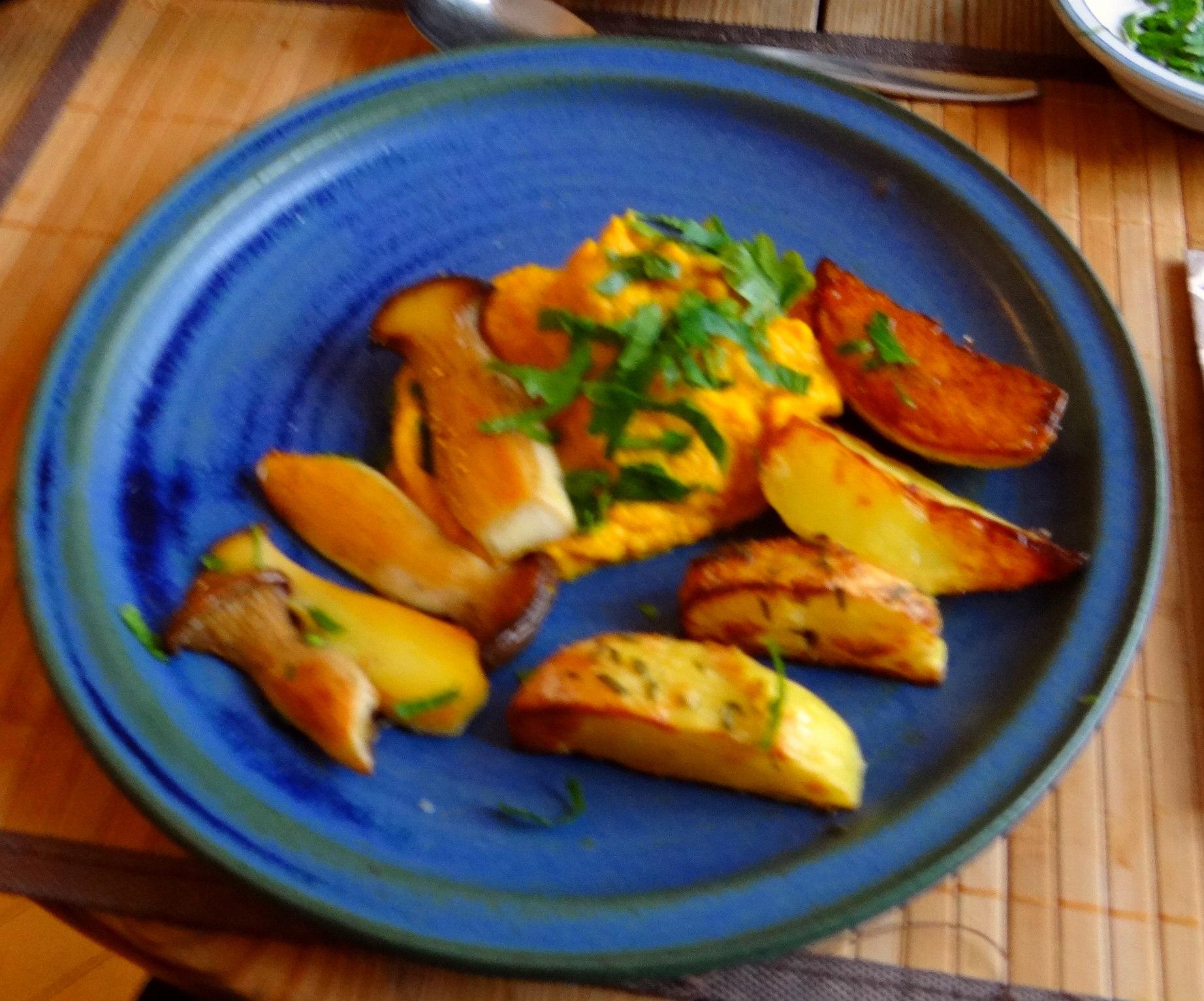 Kräuterseiling,Kartoffel Spalten,Kürbispüree (17)